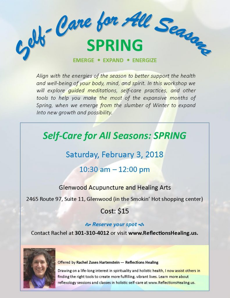 Self Care for All Seasons: Spring